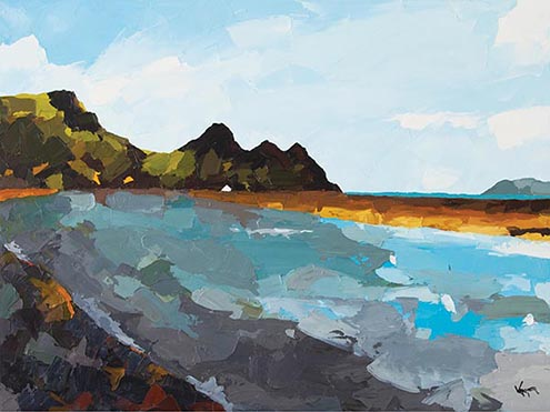 Three Cliffs Bay Gower 1 My Painting Collection